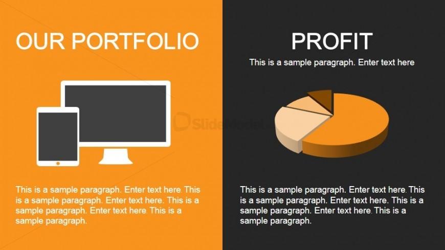Our Portfolio & Profit Slide Design for PowerPoint