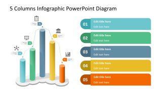 5 Columns 3D Bar Chart Template