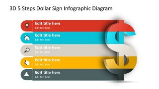 3D Segments Dollar Sign Infographic Template