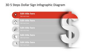 Infographic Diagram Step 1 Dollar Sign PPT