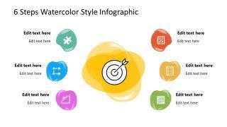 Watercolor Fluid Shapes PowerPoint Diagram