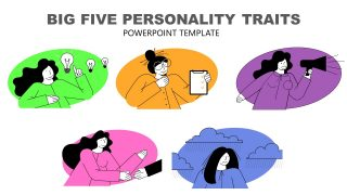Templates of Cartoon Illustration for Personality Traits
