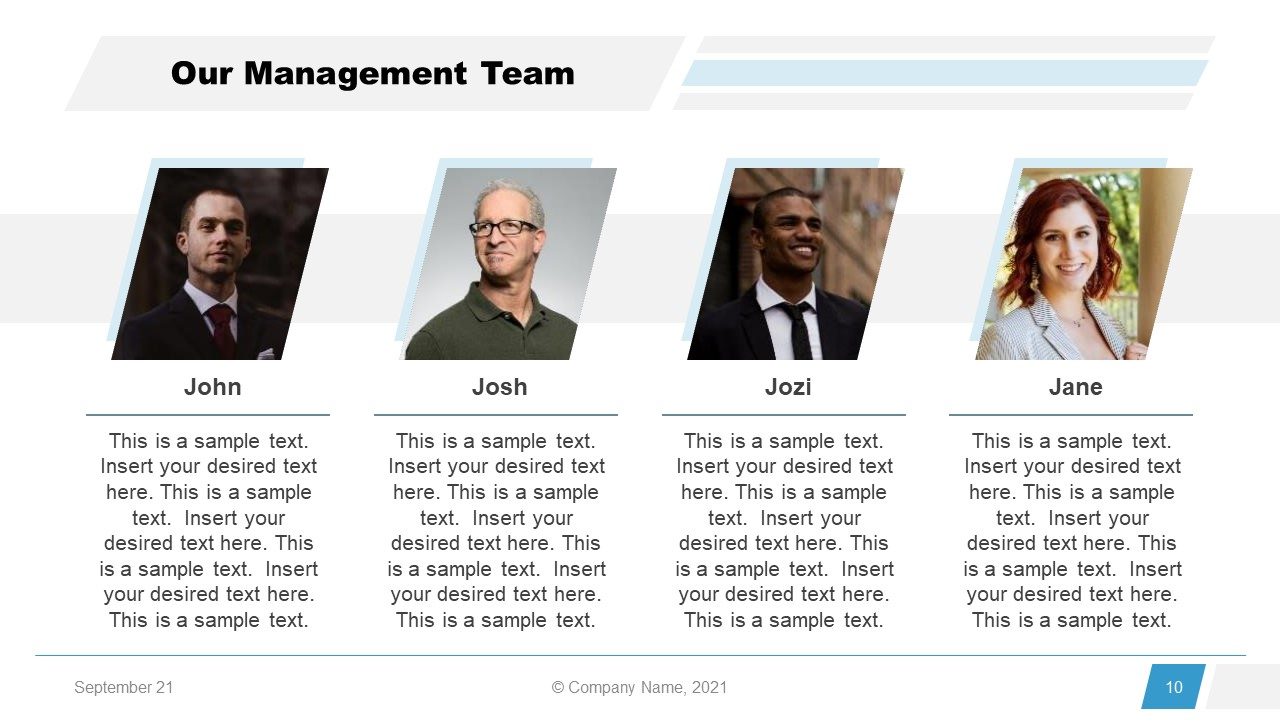 Corporate Annual Report Template of Team