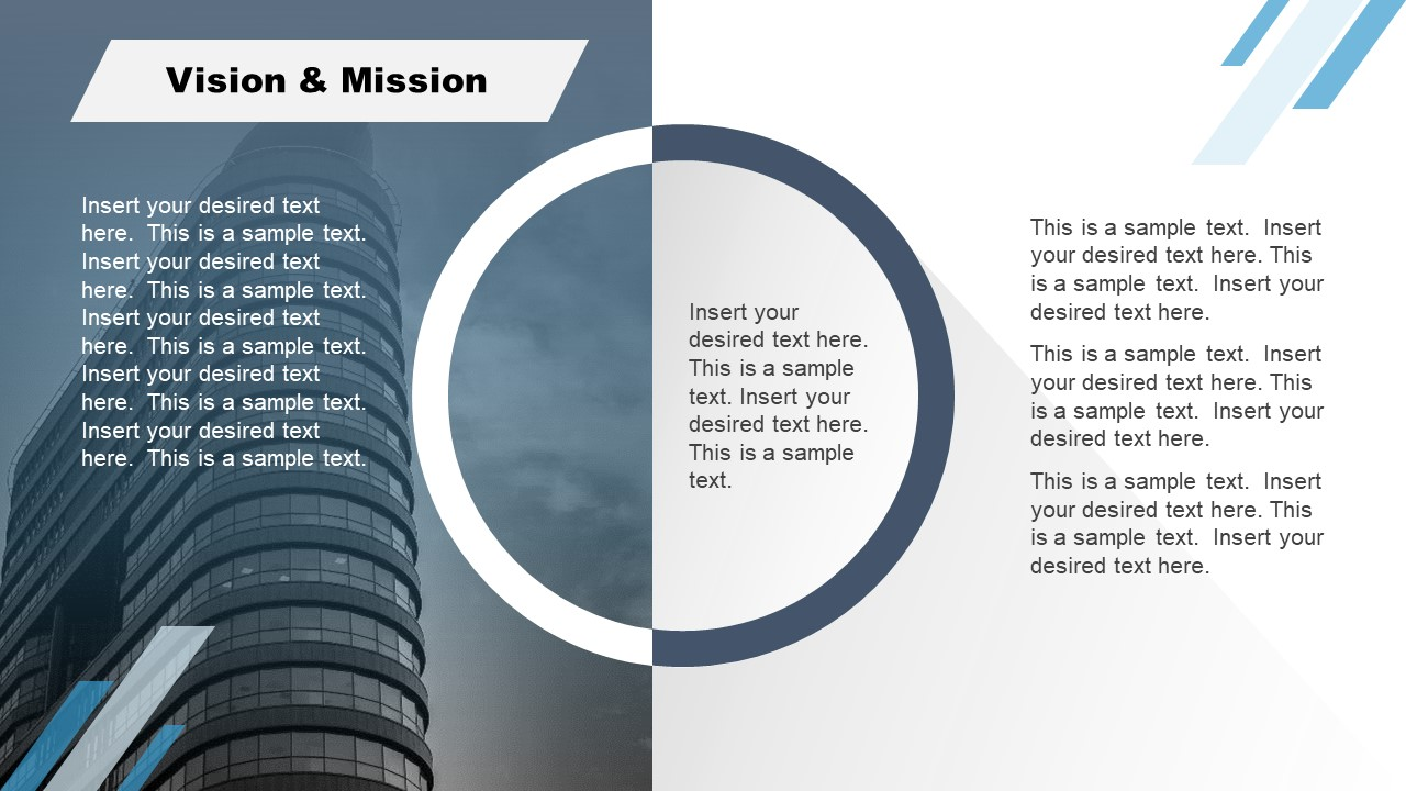 Corporate Annual Report Template of Vision Mission