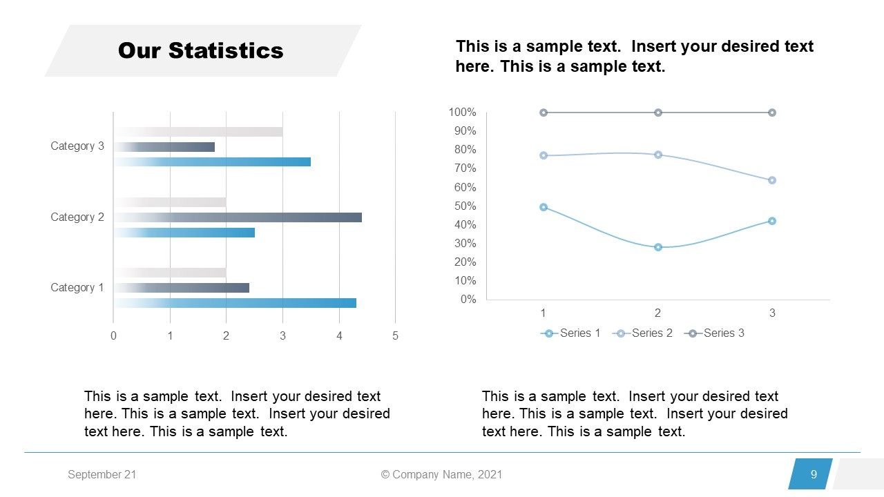 Corporate Annual Report Template of Statistics Charts