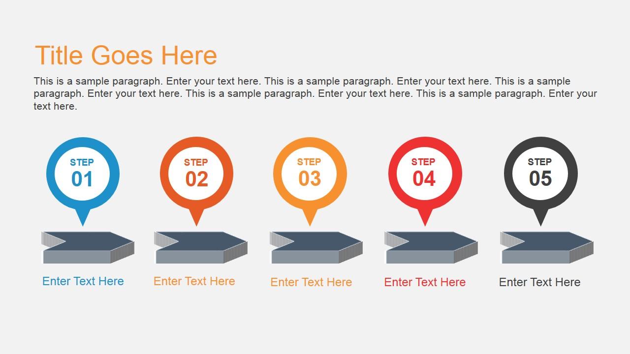 Horizontal Timeline Design for PowerPoint