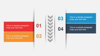 Vertical 4 Steps Slide Design for PowerPoint
