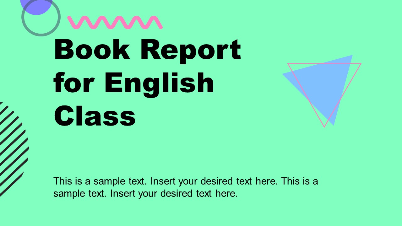 Creative Book Report Template in PowerPoint