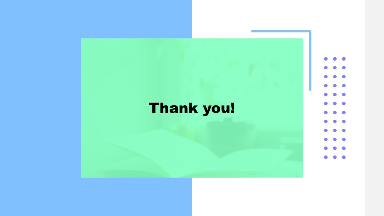 PPT Book Report Template for Thank You Slide