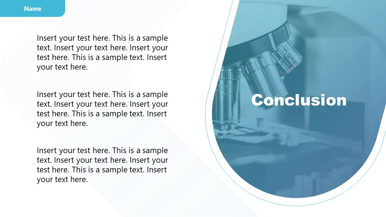 Template of Conclusion Experiment Results Presentation