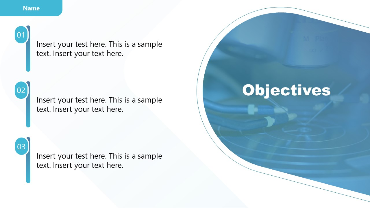 Template of Objectives in Experiment Results Presentation