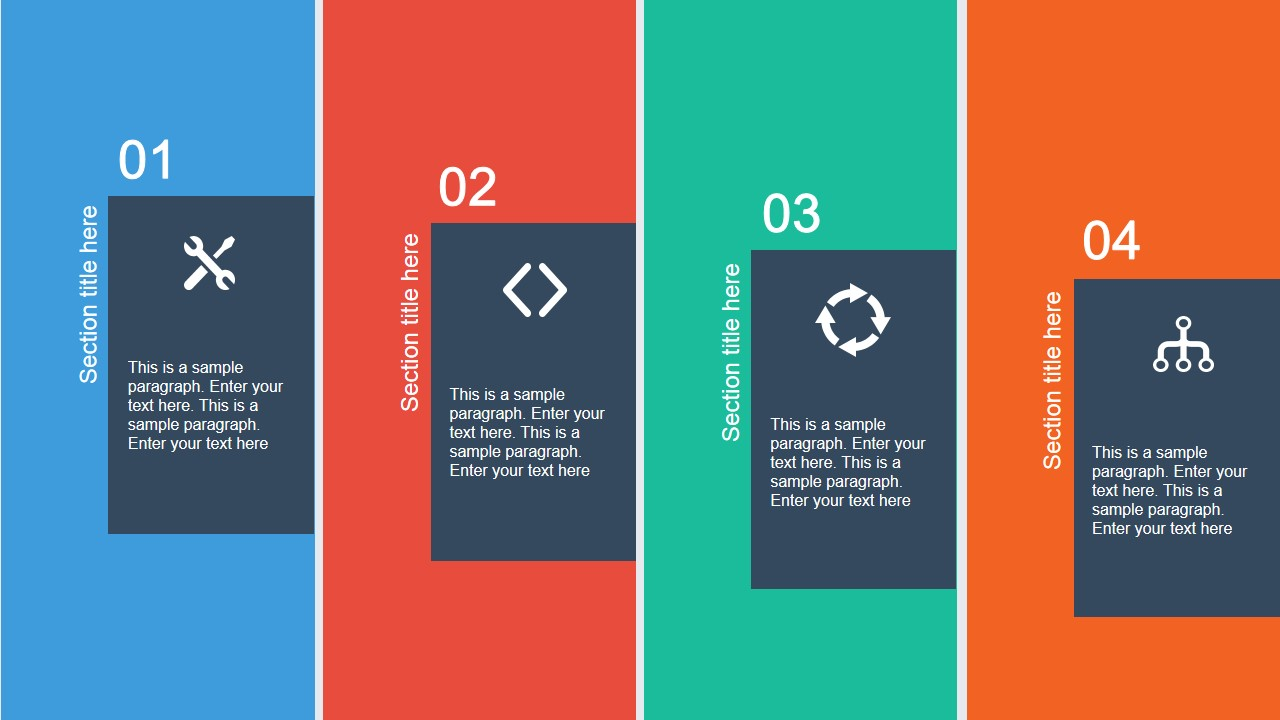 flat layout template for powerpoint - slidemodel, Powerpoint templates