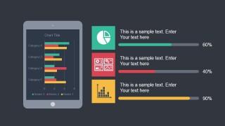 Tablet Illustration for PowerPoint Slide & Chart