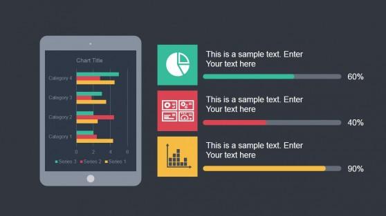Tablet Illustration for PowerPoint Slide