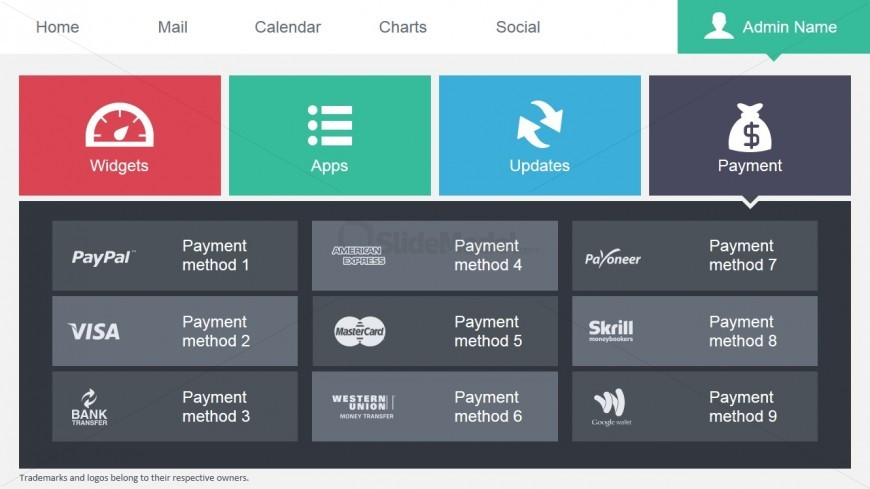 Data Dashboard Payment Options