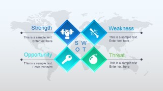 Simple SWOT Diagram with PowerPoint Icons