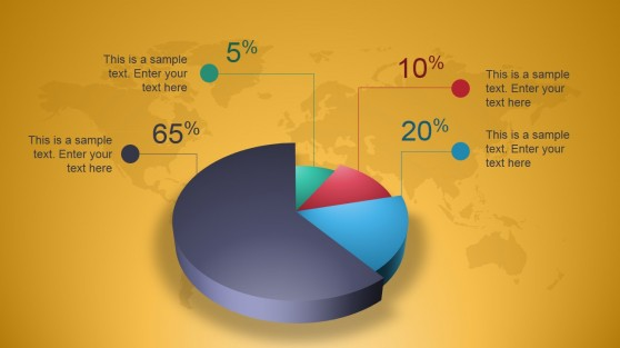 Creative 3D Perspective Pie Chart for PowerPoint