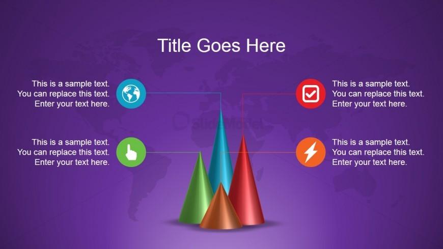 Cones Chart Diagram Slide Design