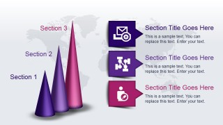 3D Cone Idea Layout for PowerPoint