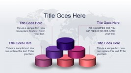 3D Stacked Cylinder Slide Design for PowerPoint