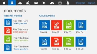Metro Documents Page Slide Design