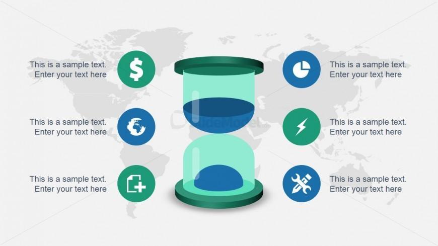 Sand Clock Diagram & Slide for PowerPoint