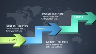 3D Process Flow Slide Design with Arrows