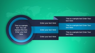 Circular Layout Design for PowerPoint with 3 Steps