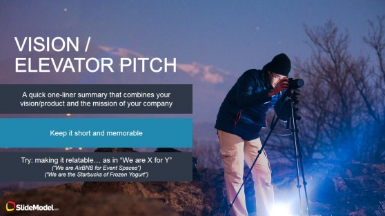 Elevator Pitch PowerPoint Slide Design