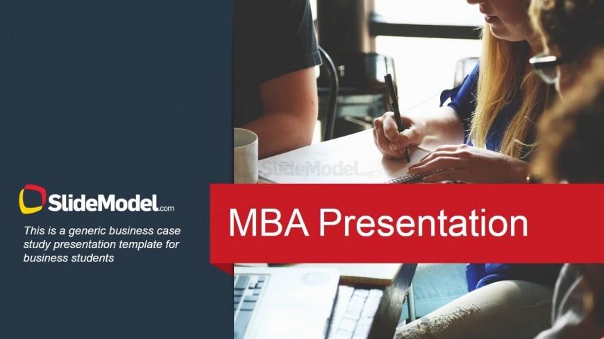 Master in Business Case Study Slide Design