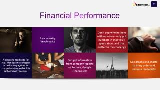 PowerPoint Slide Design for Financial Performance Description
