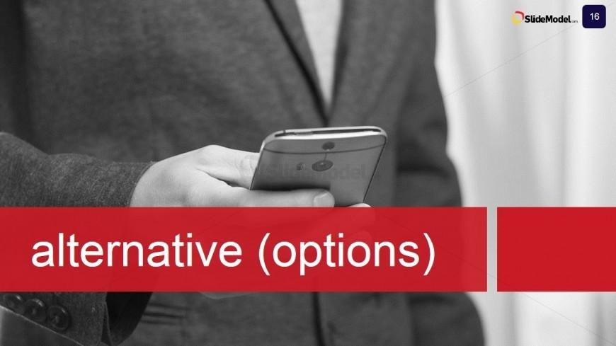 PowerPoint Slide for Alternative Options Case Study Design