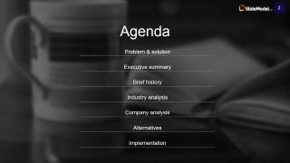 Agenda Slide Design for Case Study PowerPoint