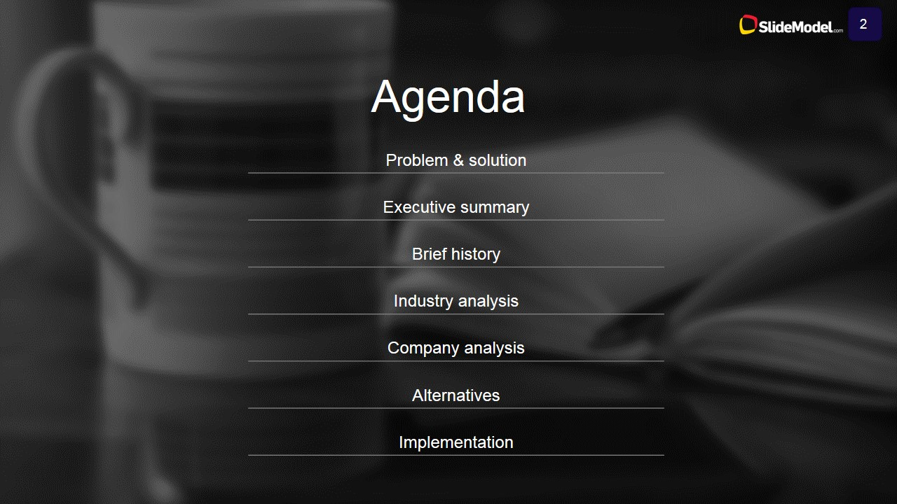 case study analysis agenda - slidemodel, Presentation templates