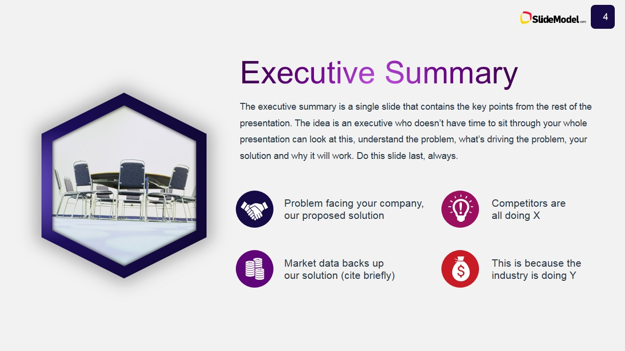 business case studies executive summary slide design - slidemodel, Modern powerpoint