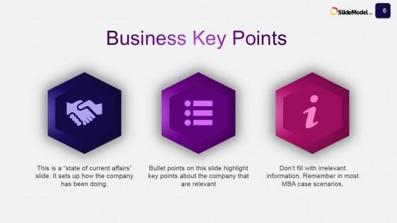 Case Studies PowerPoint Template Business Key Points Slide