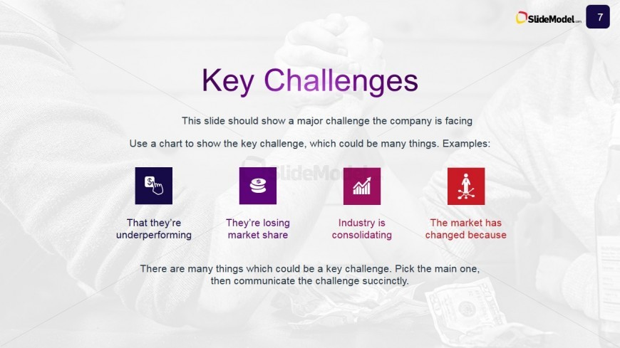 PowerPoint Slide Describing Key Challenges for the Case Study CZEZ4D9F