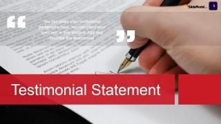 PowerPoint Slide Design for Testimonials