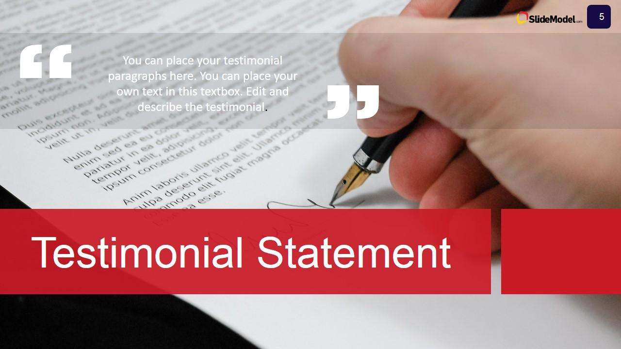 Case Study Testimonials PowerPoint Slide - SlideModel