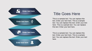 Ribbon Layout Design for PowerPoint