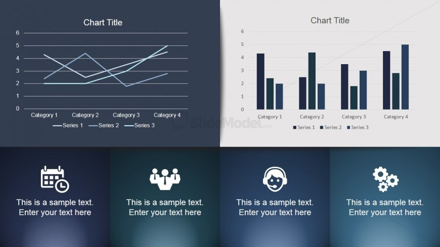 Dashboard PowerPoint Slide with Charts