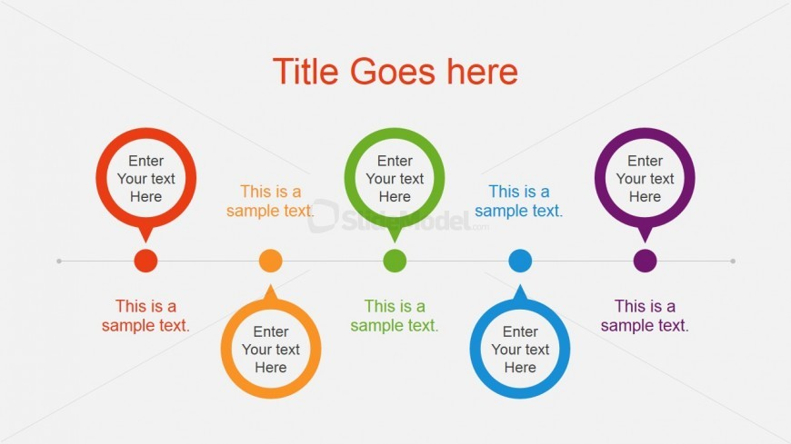 Professional Horizontal Project Timeline Slidemodel