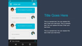 Messaging Screen PowerPoint Shapes Material Design