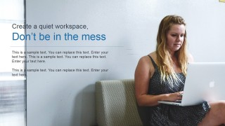 PowerPoint Slide Work From Home No Mess Workspace