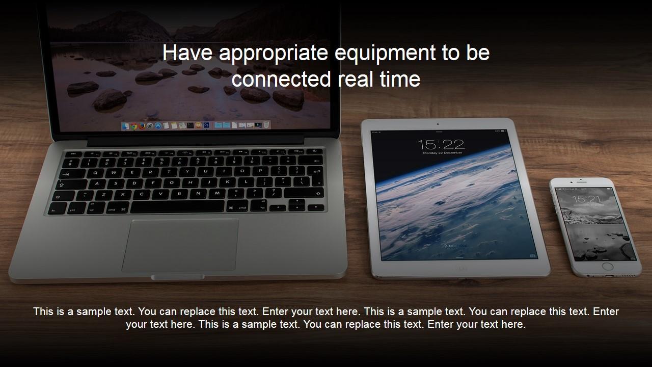PowerPoint Background with Digital Widgets