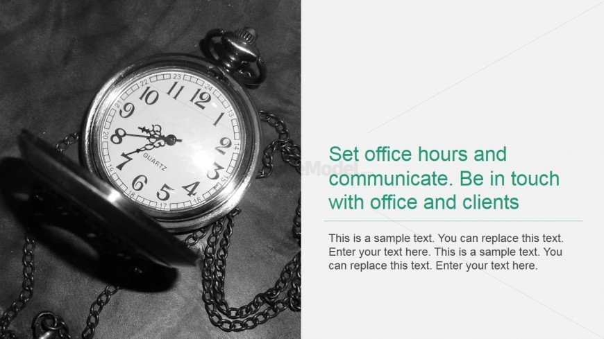 PowerPoint Background with Pocket Watch for Office Hours