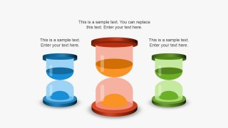 3D Sand Clock Illustrations for PowerPoint