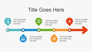 Simple Flat Timeline Design for PowerPoint