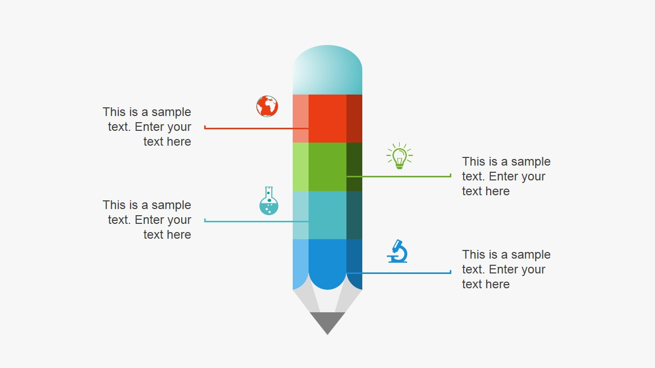Pencil Metaphor Slide Design