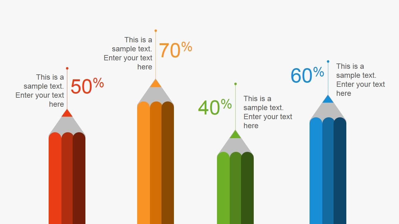 Creative Pencil Metaphor Bar Chart for PowerPoint